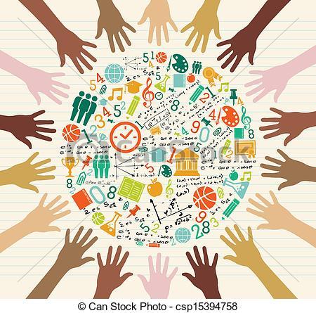 Education Global Icons .-Education global icons .-12