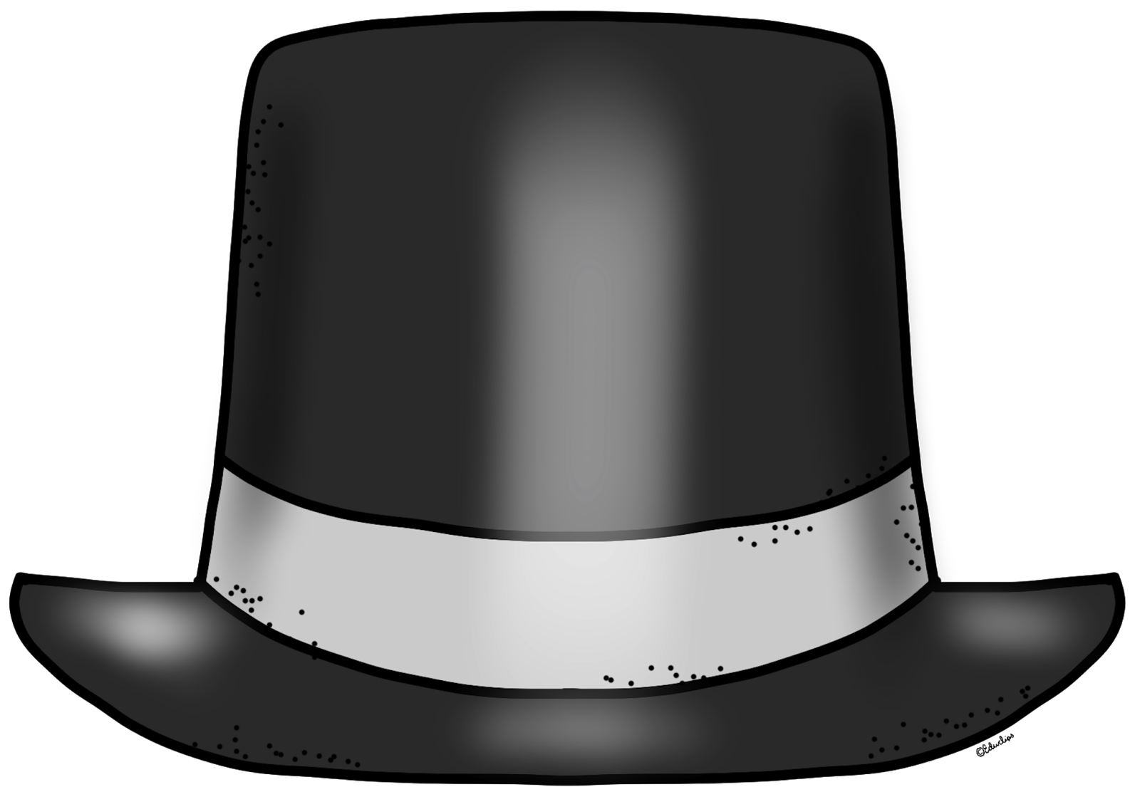 EDUCLIPS EDUCASONG: {Free} Blank New Year Top Hat Clip Art
