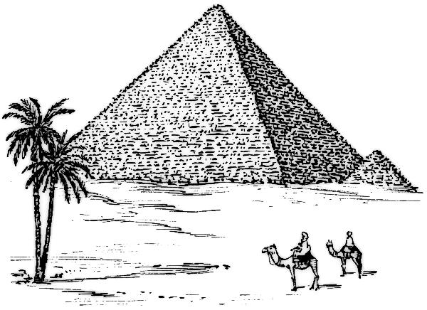 Egyptian Pyramid Clipart - Pyramid Clip Art