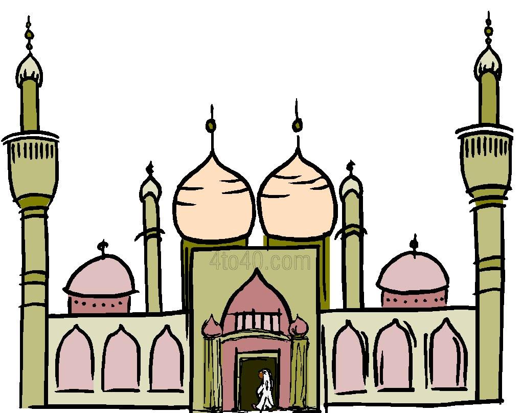 Eid Festival Image - Mosque Clipart