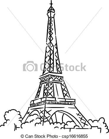 Eiffel tower in Paris, France - csp16616855