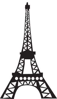 Eiffel tower silhouette - for paper craft, 12 sheets/each. use cardstock.