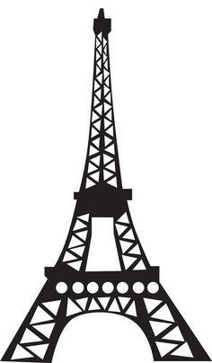 Eiffel Tower Silhouette - For Paper Craf-Eiffel tower silhouette - for paper craft, 12 sheets/each. use cardstock.-12