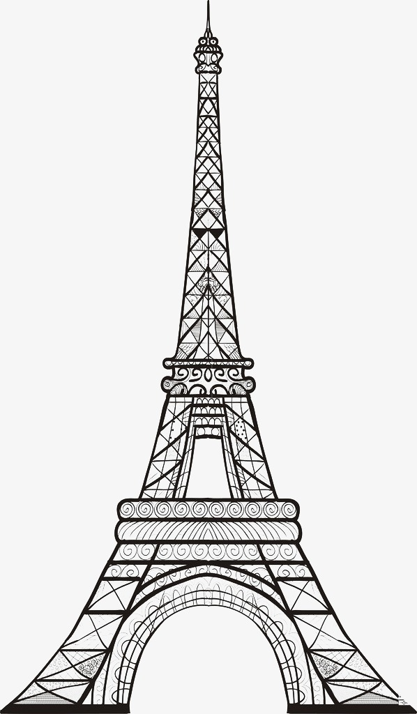 eiffel tower, Sketches, Illustration, Tower Illustration PNG Image and  Clipart