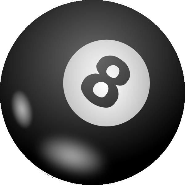 Eight Ball clip art free vector