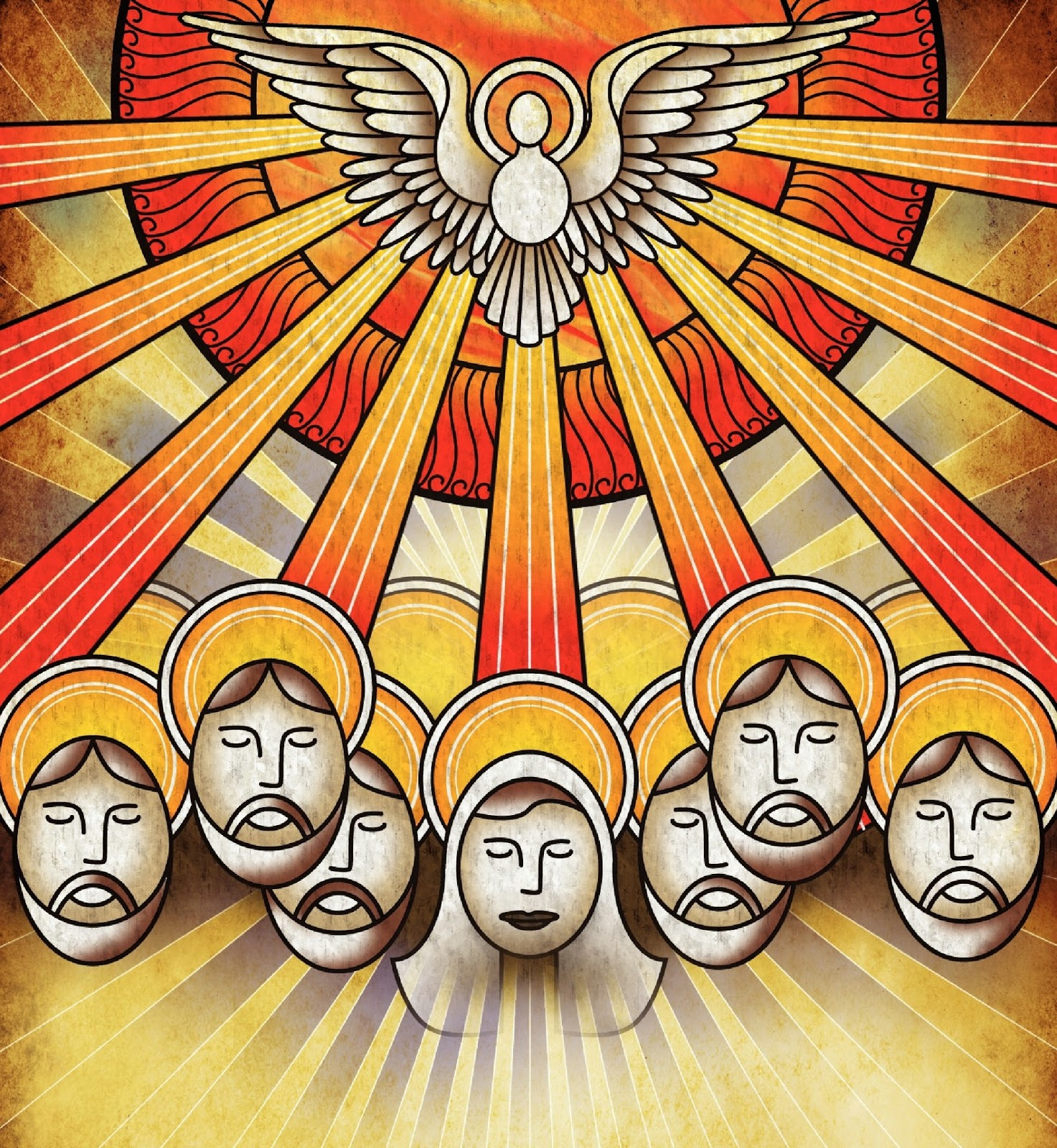 Tongues of fire apostles