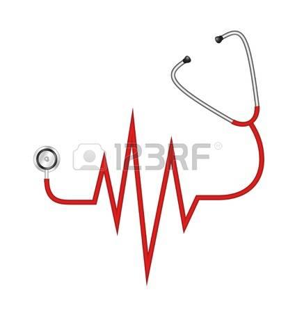 Ekg: Stethoscope In Shape Of Electrocard-ekg: Stethoscope in shape of electrocardiogram line-10