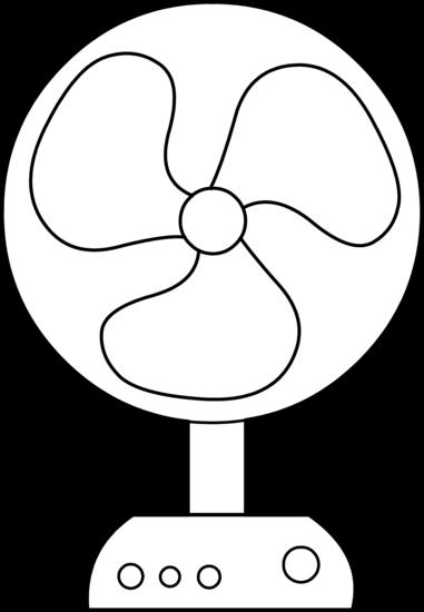 Electric Fan Line Art