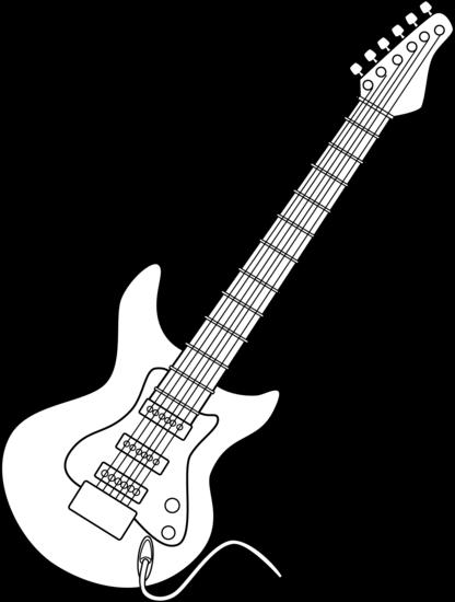 Electric Guitar Line Clipart # .