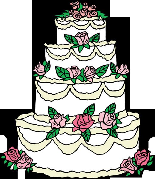 elegant wedding cake clipart
