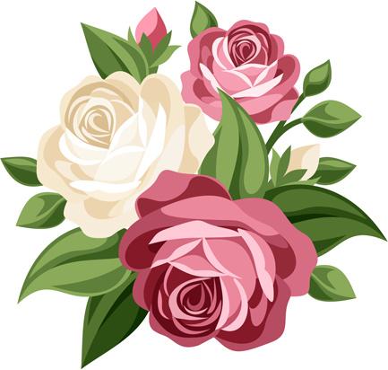 Elegant Flowers Bouquet Vector-elegant flowers bouquet vector-5
