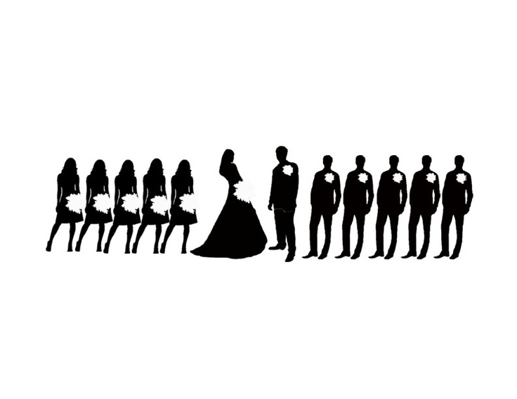 69 Wedding Party Silhouettes