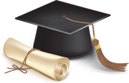 Elements Of Graduation Cap And Diploma D-elements of graduation cap and diploma design vector-6