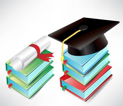 Elements Of Graduation Cap And Diploma D-elements of graduation cap and diploma design vector-7