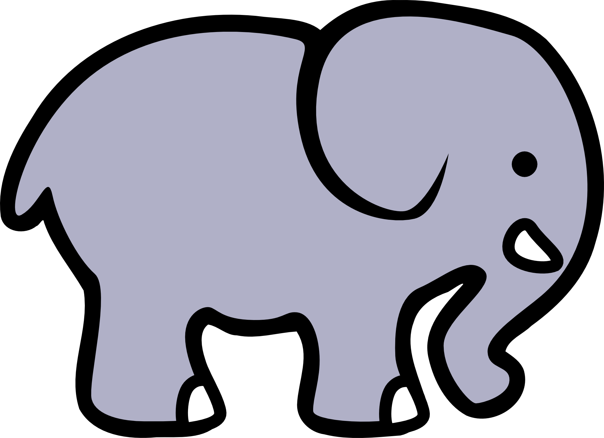 Elephant Clipart Black And White-elephant clipart black and white-6