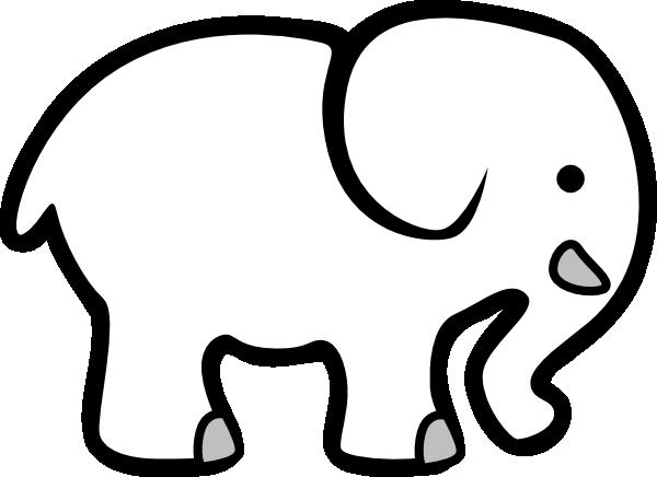 elephant clipart - White Elephant Clip Art
