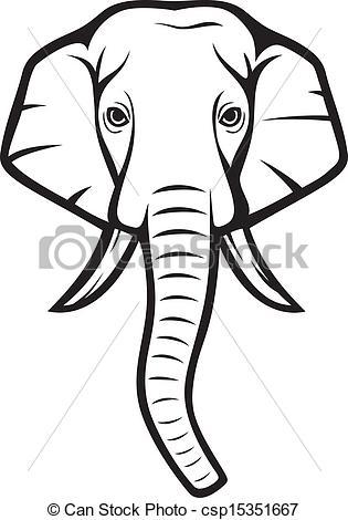 elephant head clipart