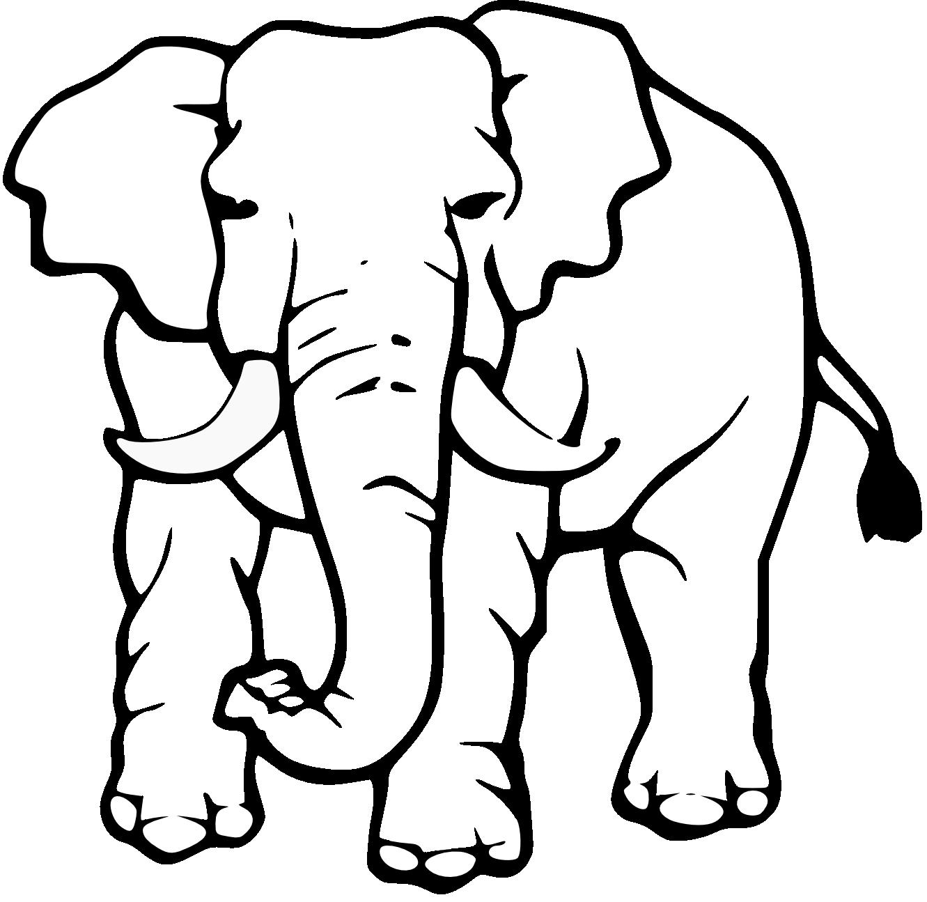 Elephant Clip Art Black And White Black -Elephant Clip Art Black And White Black And White Elephant Drawing-5