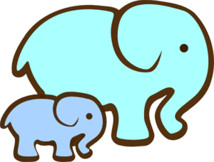 Elephant Clipart Baby Shower Blue Elephant Mom Baby Md Png