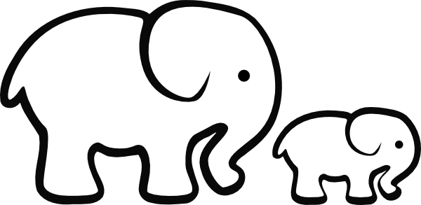 Elephant Clipart Black and .