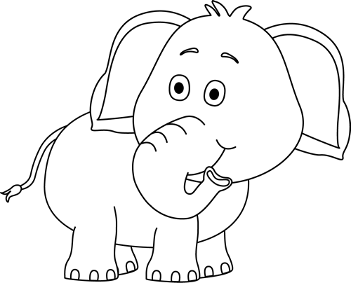 Elephant Clipart Black And White Wallpaper