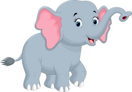 Cute Elephant Cartoon Illustration-Cute elephant cartoon Illustration-5