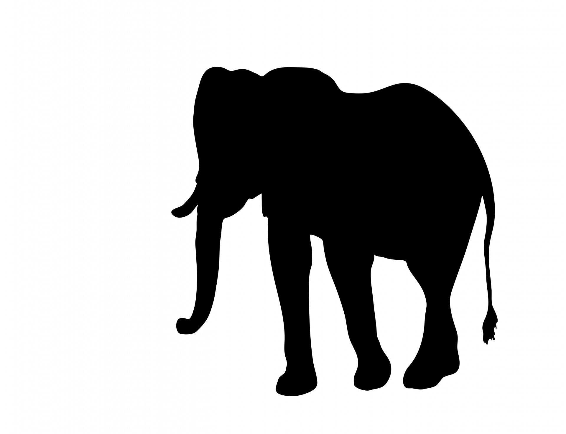 Elephant Clipart Silhouette
