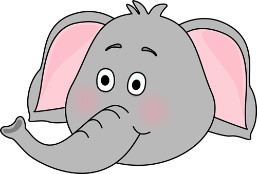 Elephant Face - Elephants Clip Art