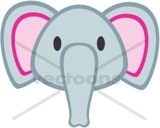 Elephant Head Clip Art