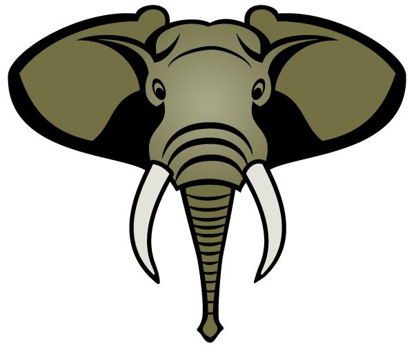 Elephant Head Clipart - .