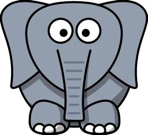 Elephant head clipart free clipart images 2