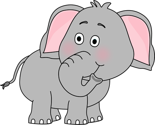 Elephant Looking Behind - Elephants Clip Art