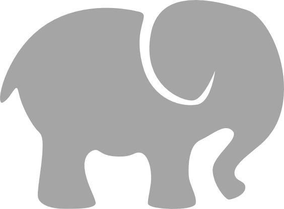 elephant silhouette clip art | Gray Elephant clip art - vector clip art online, royalty