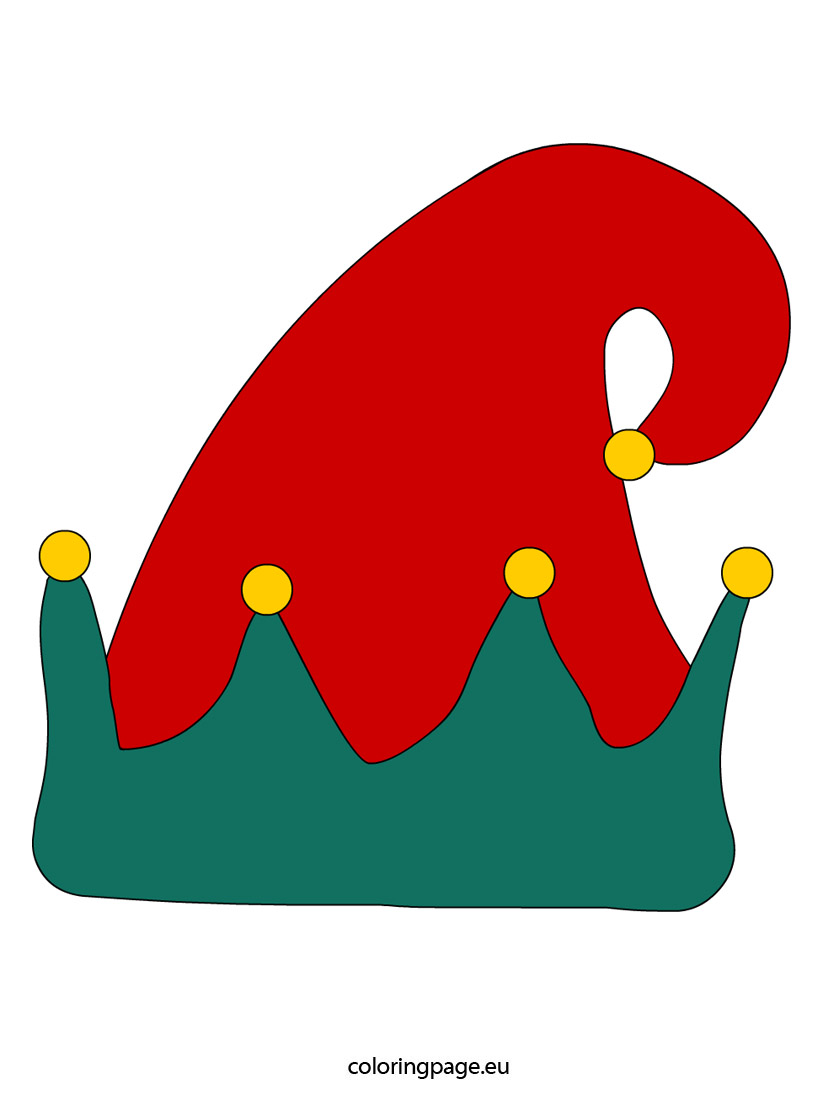 Elf Hat Coloring Template Elf ..