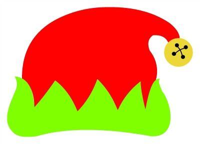 Elf Hat Monogram Topper SVG