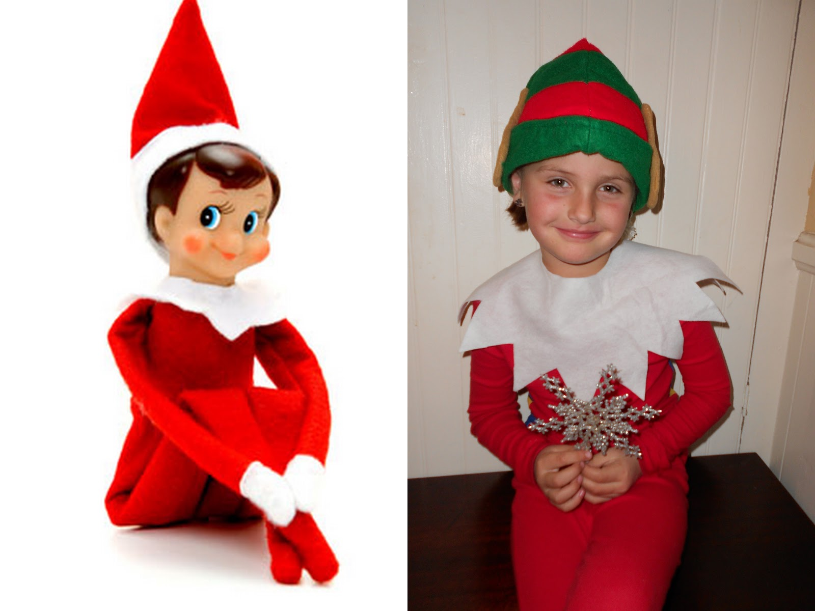 Elf In Pajamas Clipart #1