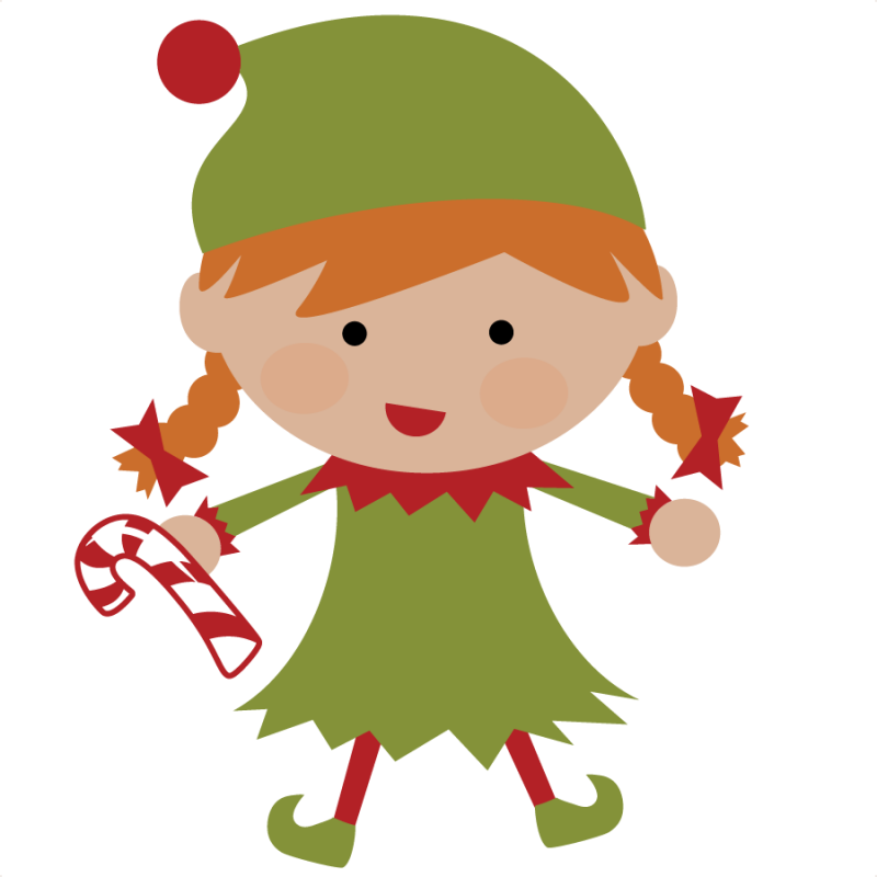 Elf Svg File For Scrapbooking Cute Christmas Elf Svg Cut Christmas Elf