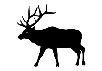 Elk, Clip art and Silhouette ... Download