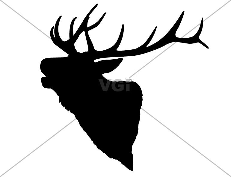 Elk Head Clipart #1
