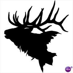 Elk Head Decal #2 ST Vinyl Window Stickers Hunting on eBid United .