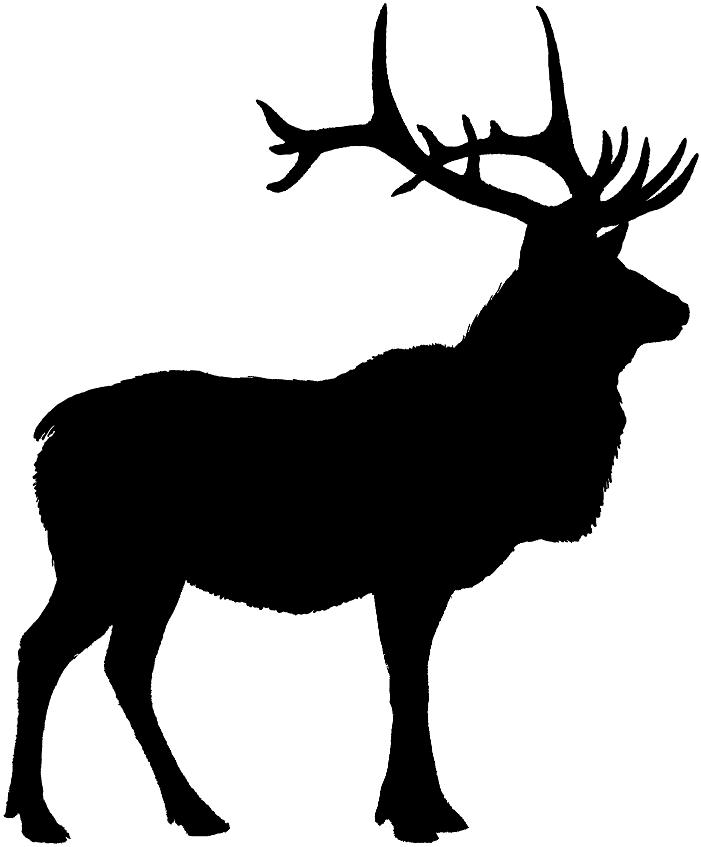 Elk Head Silhouette-Elk Head Silhouette-2