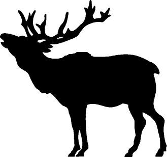 Elk Silhouette Clip Art ..-Elk Silhouette Clip Art ..-3