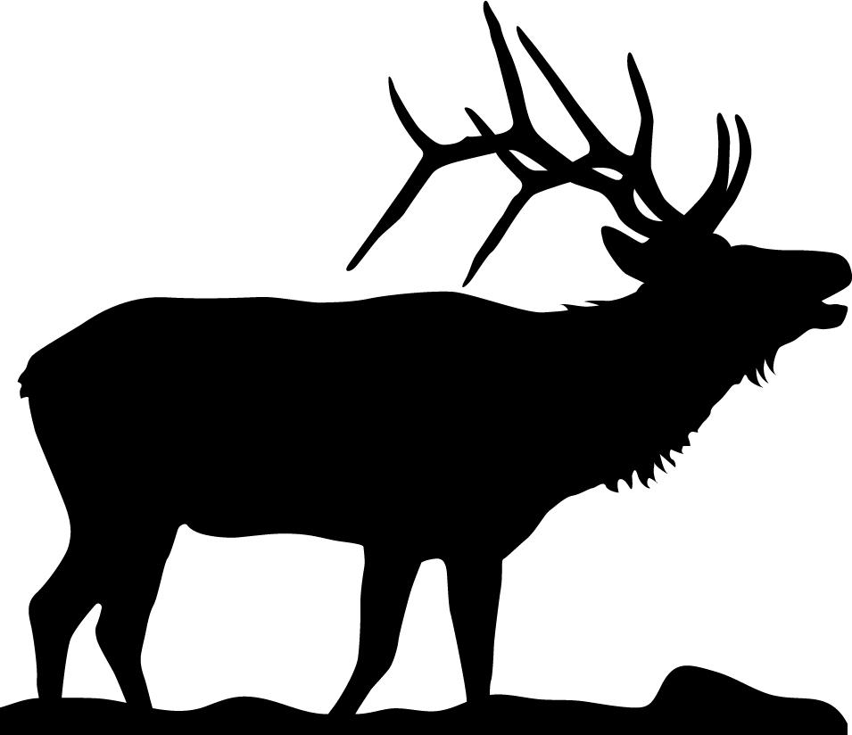 Elk Silhouette Images images. 502-3202-blk.jpg