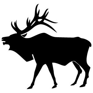Elk Vector Image-Elk Vector Image-14