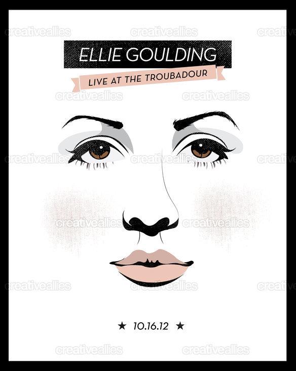 Ellie Goulding Poster by Marisa Cruz on CreativeAllies clipartlook.com