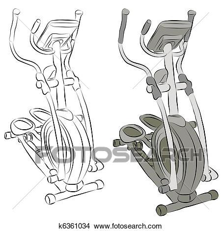 An Image Of A Elliptical Machine Line Dr-An image of a elliptical machine line drawing.-5