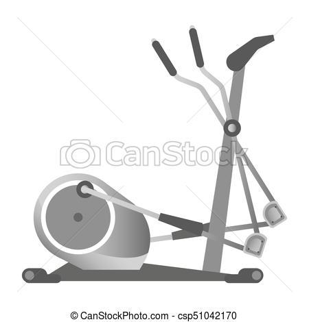 Gym Fitness Equipment Elliptical Trainer-Gym Fitness Equipment Elliptical Trainer Exercise Machine Sport Club Vector  Icon-12