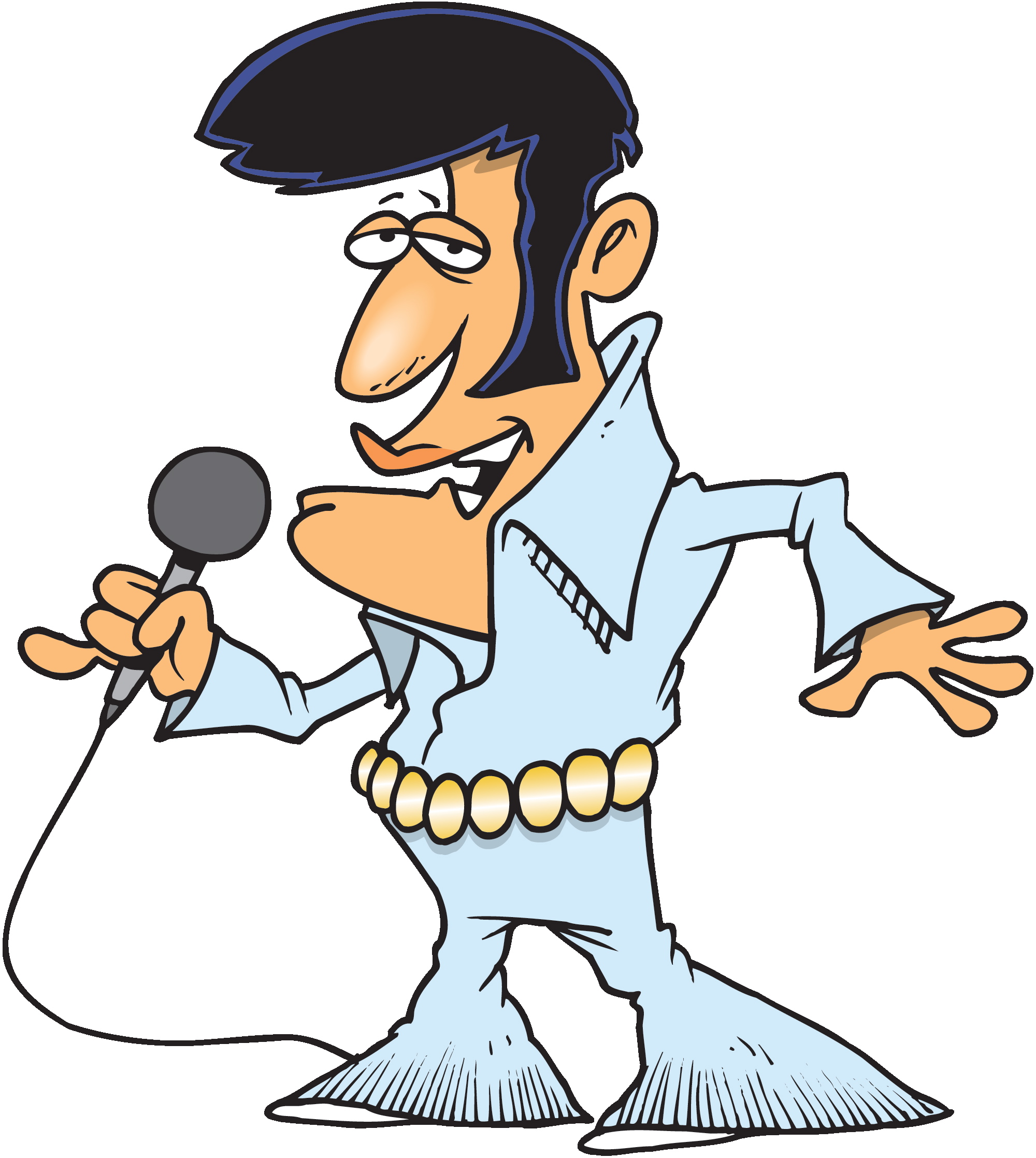 Elvis Caricature Clipart-Elvis Caricature Clipart-5