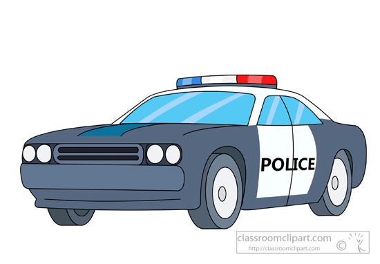 Emergency Black White Police .
