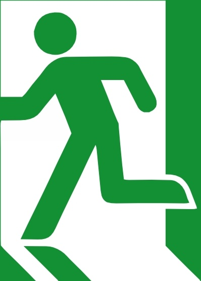 Emergency Exit Sign Clip Art-Emergency Exit Sign clip art-2